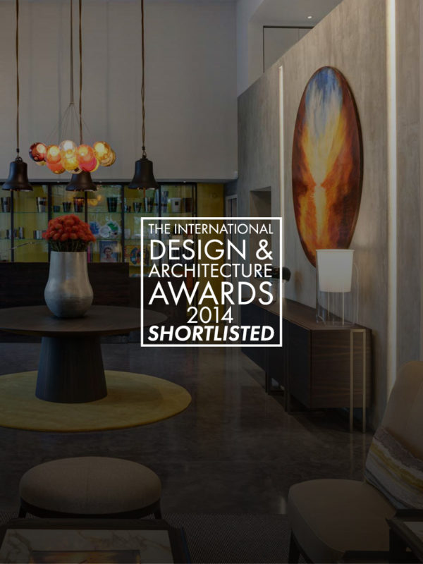 promotional shot of a living room for the international design and architecture awards 2014