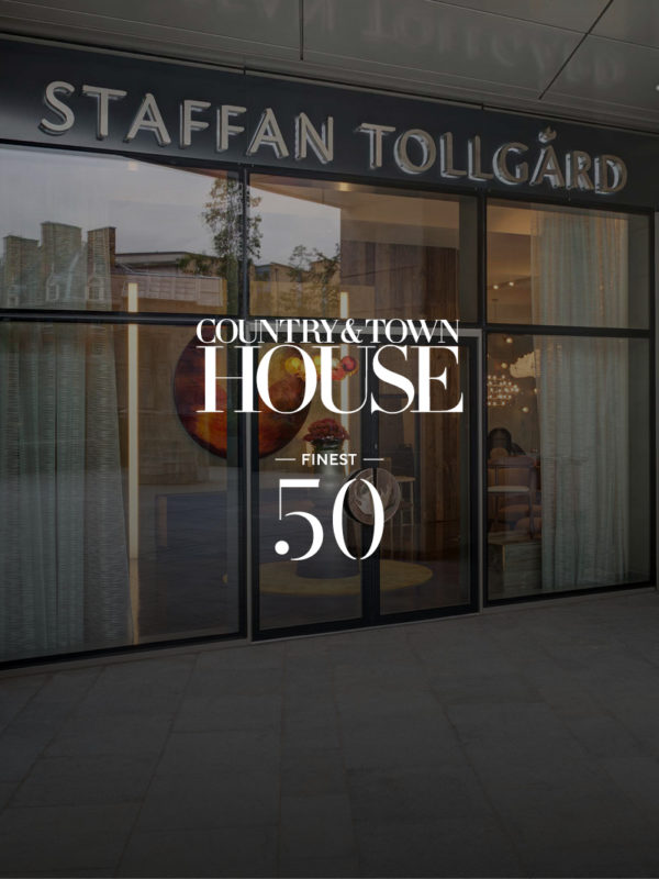 Staffan Tollgard showroom at Grosvenor waterside for country and town house