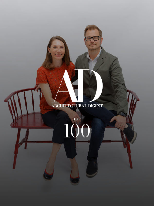 Photo of Monique and Staffan Tollgard for Architectural Digest top 100