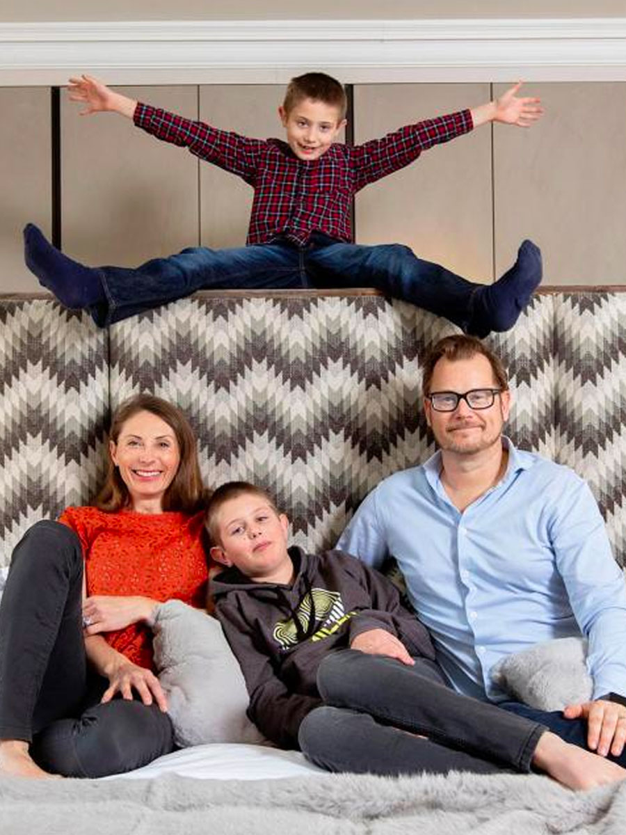Monique and Staffan Tollgard with their children