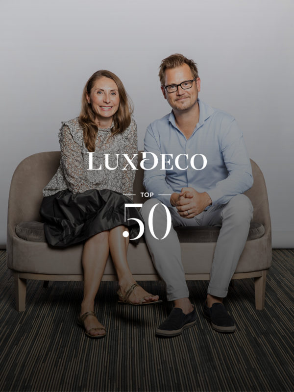 Photo of Monique and Staffan Tollgard for LuxDeco top 50