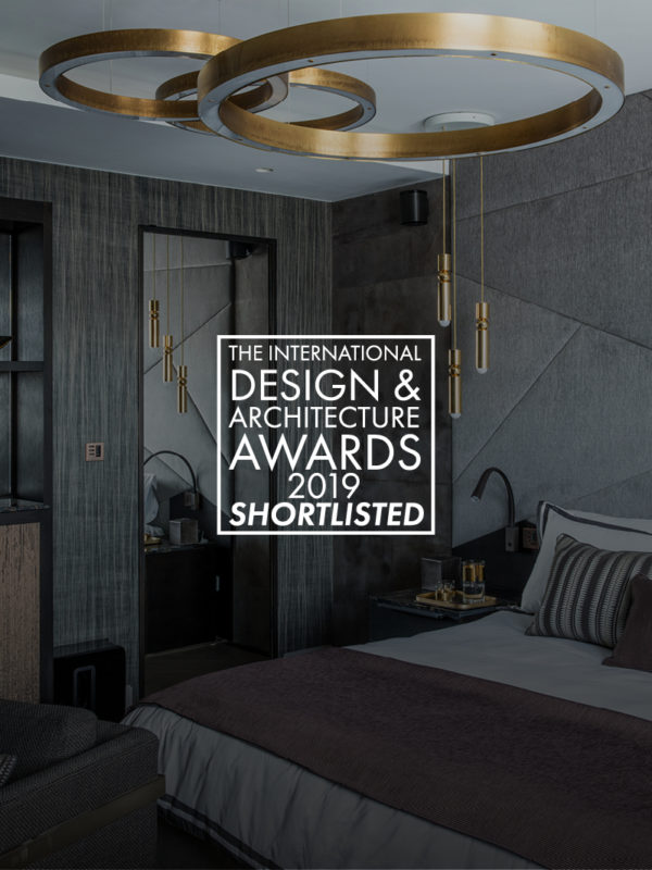 image of bedroom designed by Tollgard for the international design and architecture awards 2019 a