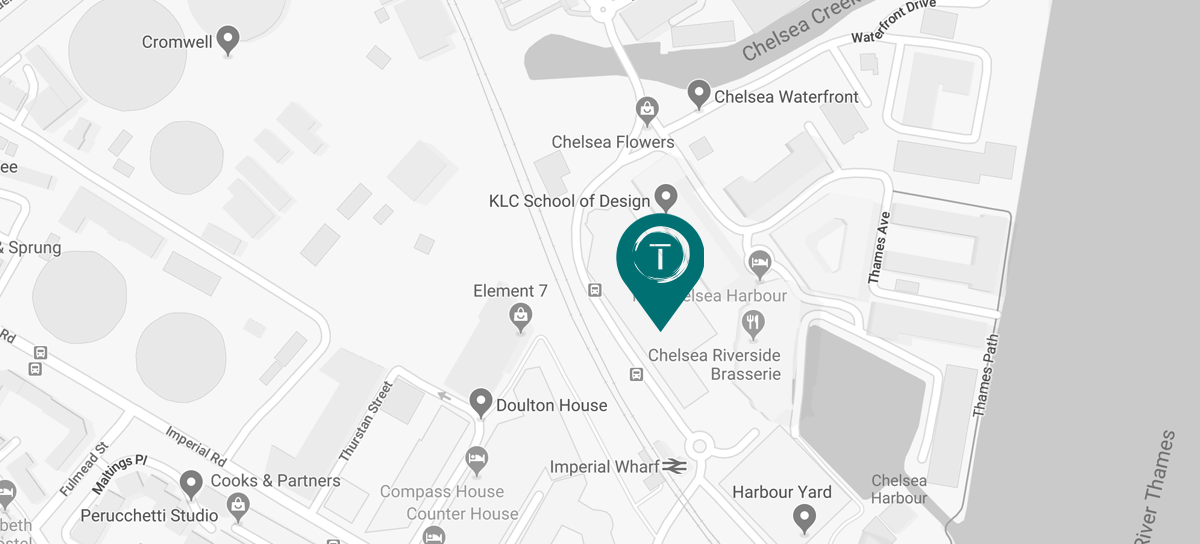 map Tollgard Design Group , cecotti showroom Chelsea Harbour