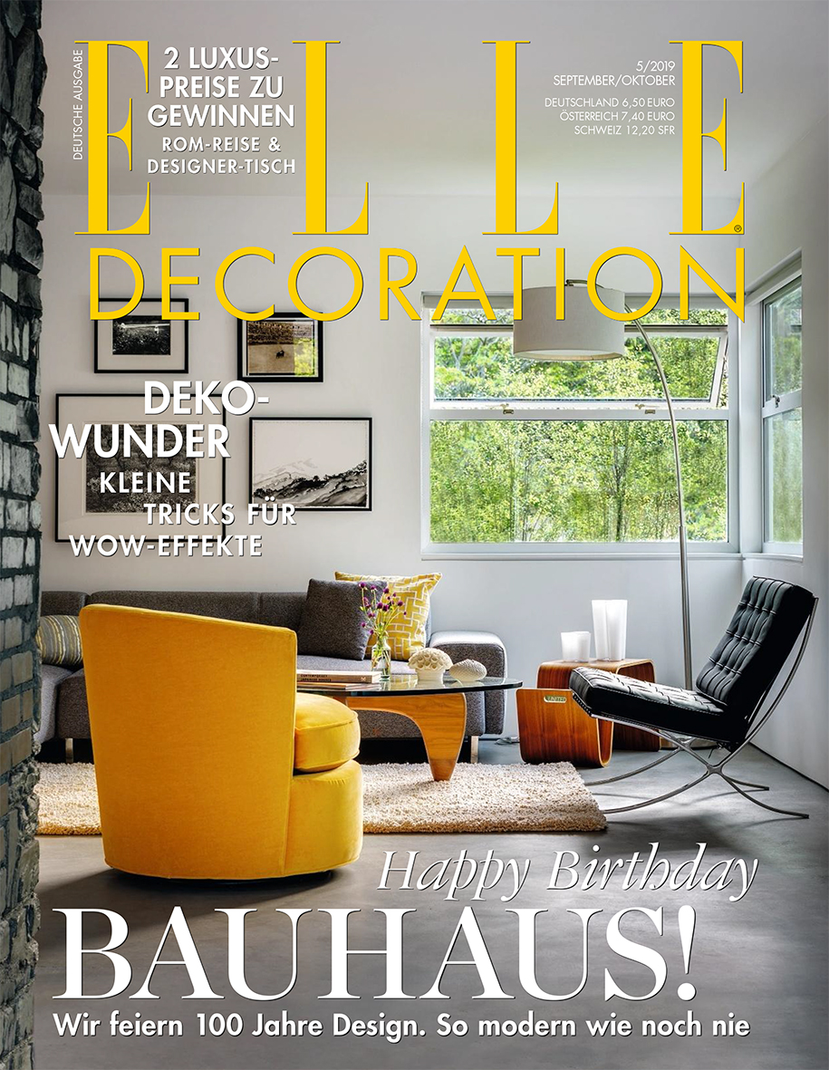 Elle Decoration Germany - Sep-Oct 2019 - FRONT PAGE