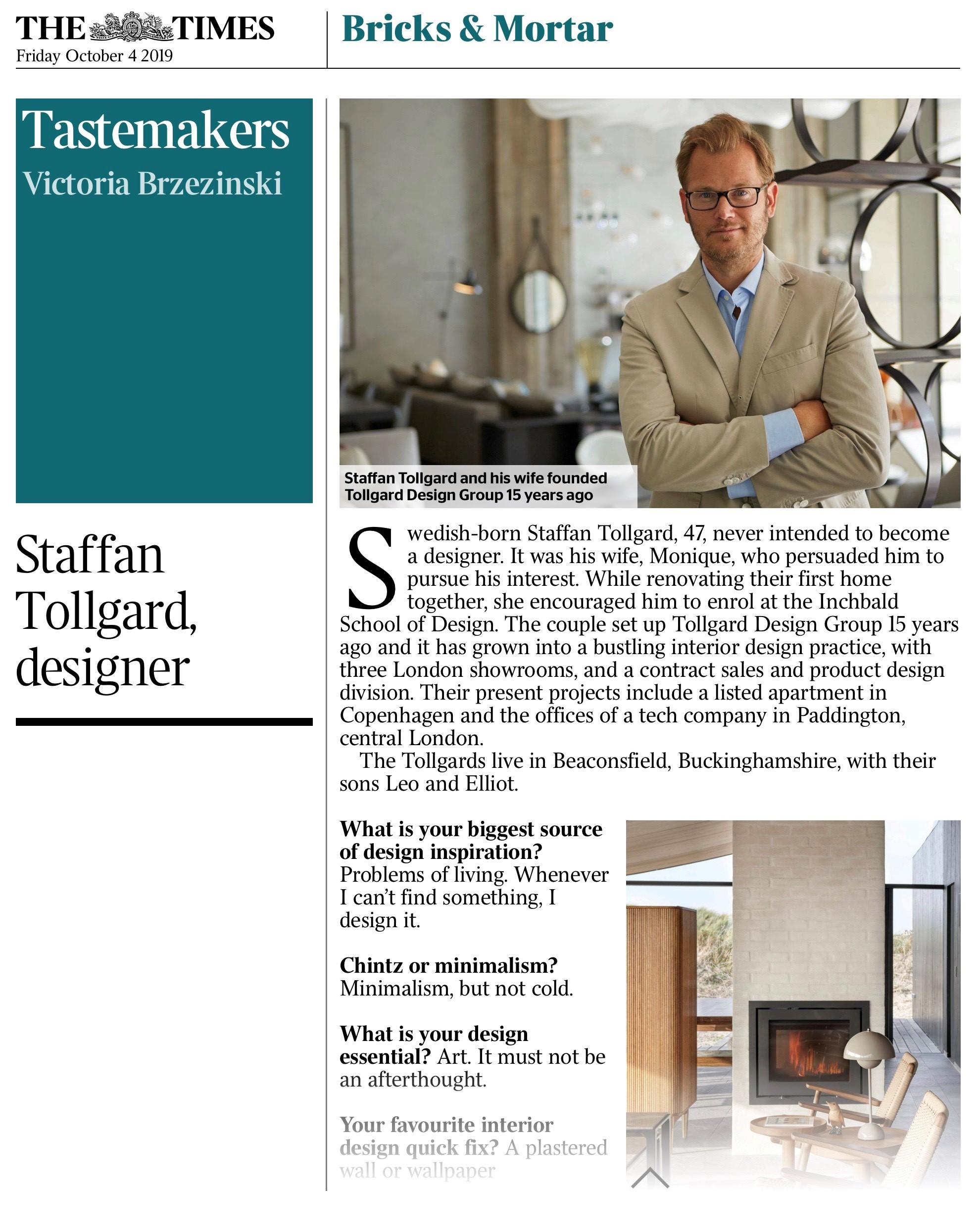 Tastemakers Staffan Tollgard 2