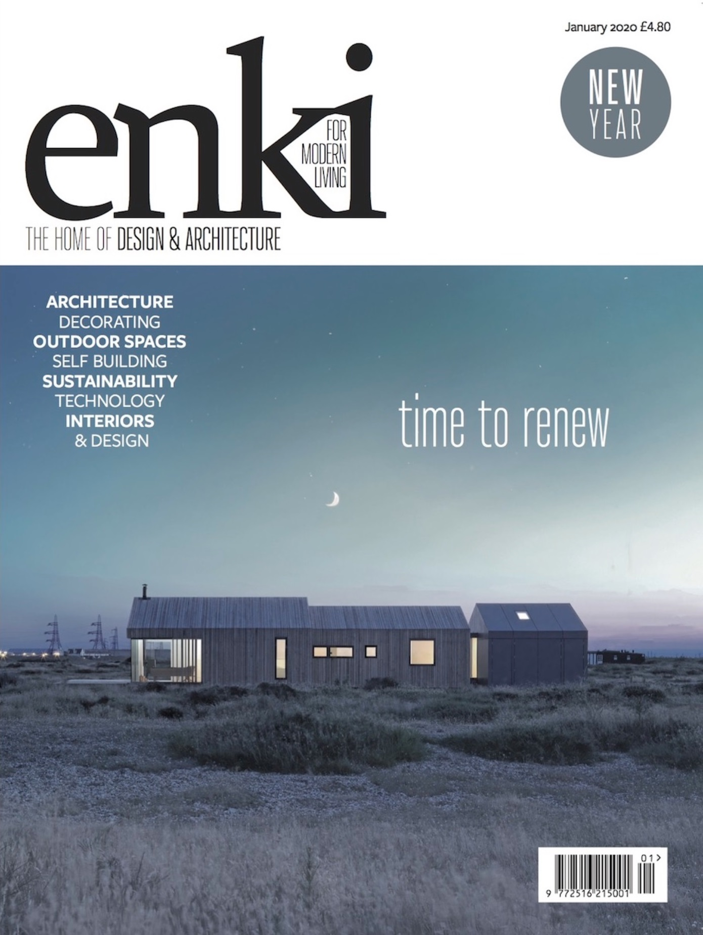 enki magazine featuring danish summer house outdoor view in the beach
