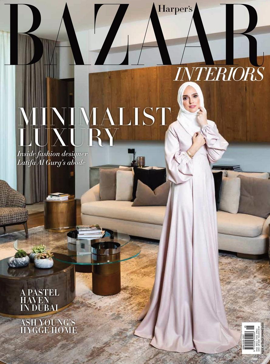 Harper's Bazaar Front Cover - minimalist luxury