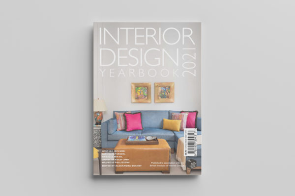 Interior Design Yearbook 2021 cover im white background
