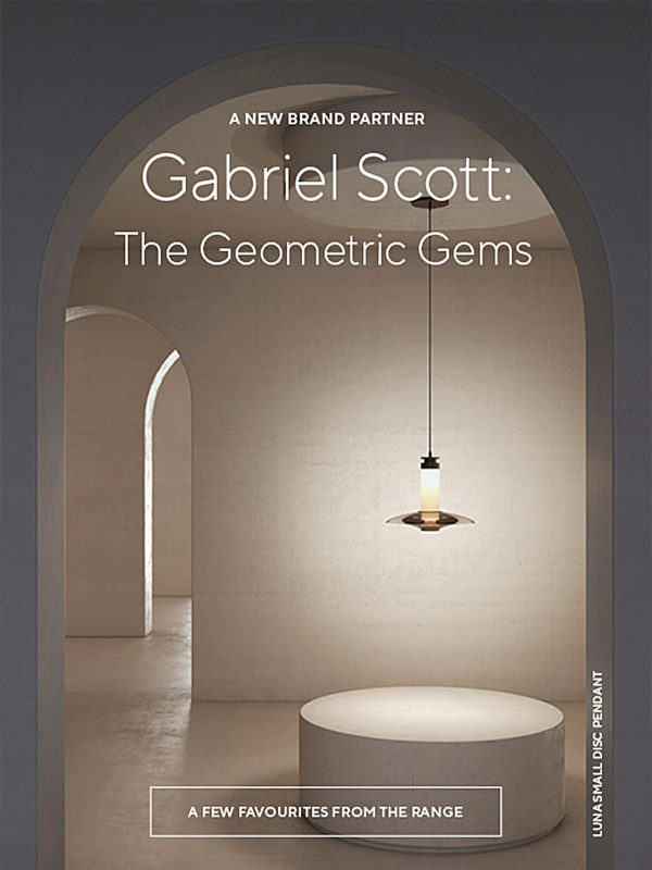 Gabriel Scott the geometric Gems collection featuring Luna A Small Disc Pendant
